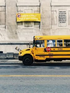 no to violence on school bus