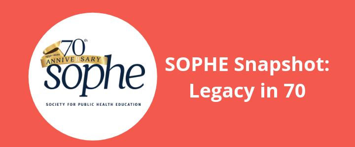 SOPHE 70th anniversary logo