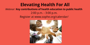 webinar: Elevating Health for All