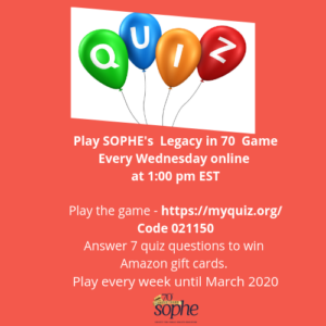 SOPHE Legacy in 70 Quiz Game - Society for Public Health