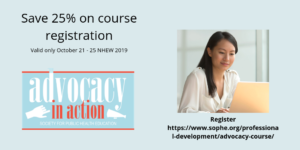 Register for SOPHE's Advocacy in Action course