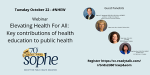 register for Elevating Health for All webinar