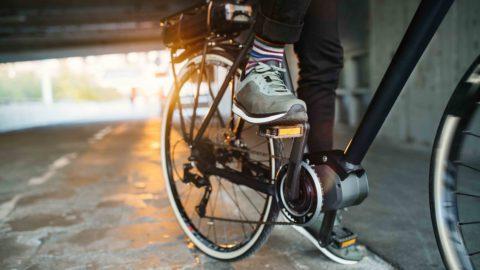 biker in city