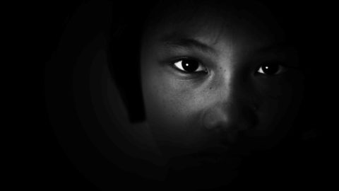 black female portrait in b/w