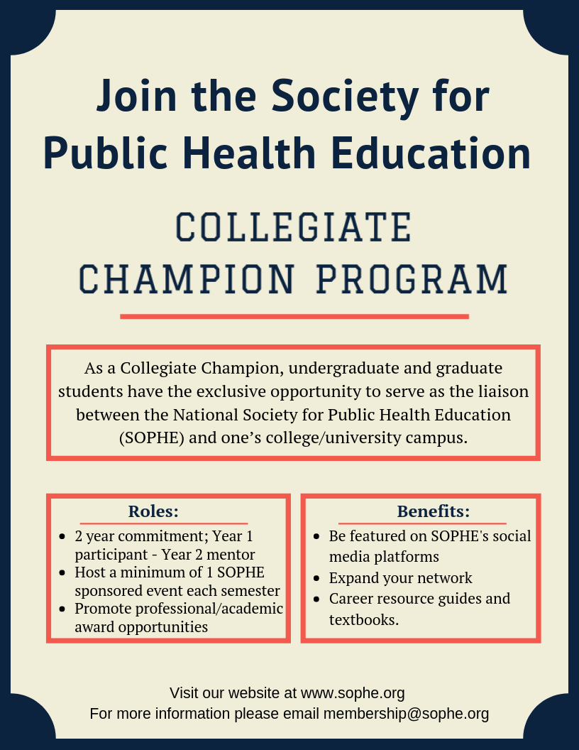 Collegiate Champion program flyer