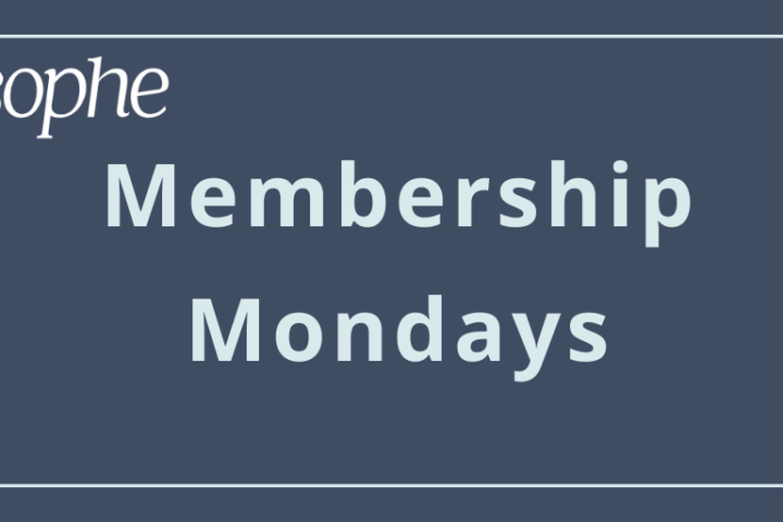 SOPHE Membership Monday quicklink