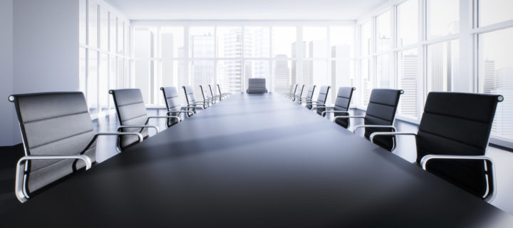 empty table for a board of directors
